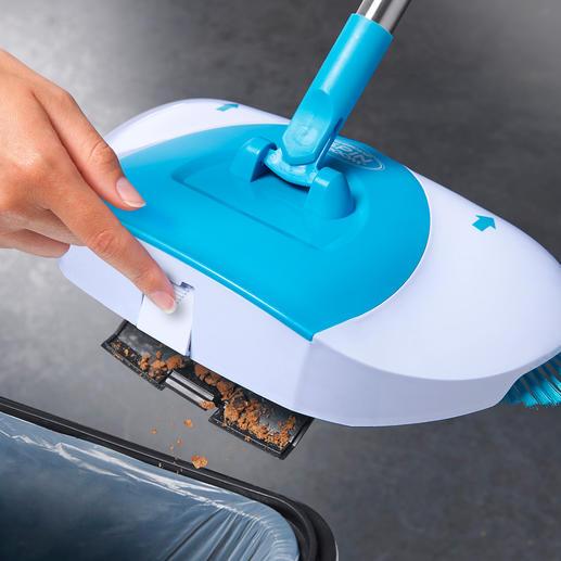 Per Fingertipp lässt sich der Auffangbehälter einfach entleeren.