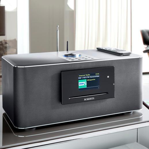 Roberts Multiroom-Musiksystem S300 inkl. 2 Roberts S1-Multiroom-Lautsprecher Klangstarker Hifi-Sound in allen Räumen. Kabellos. Vom Hoflieferanten des britischen Königshauses, Roberts.