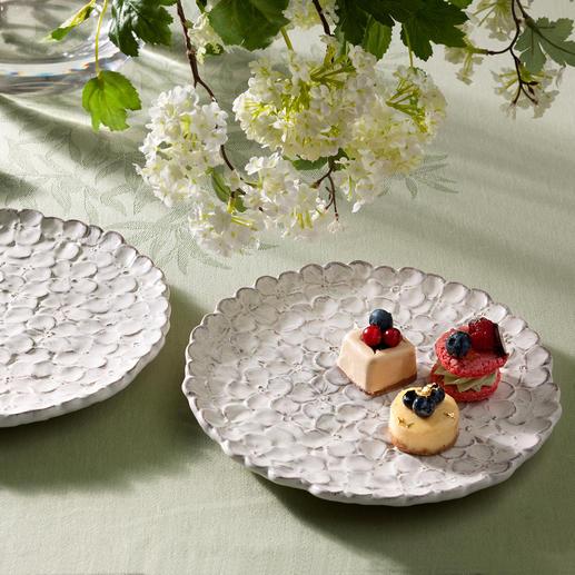 hortensien teller aus florentiner keramik 2er set kaufen. Black Bedroom Furniture Sets. Home Design Ideas
