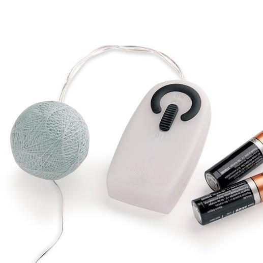 Per Handschalter aktivieren Sie die LEDs – funktioniert batteriebetrieben, ohne störendes Kabel.