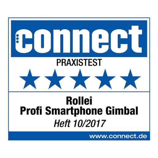 5 (von 5) Sterne für das Rollei Profi Smartphone Gimbal im Praxistest. connect, Heft10/2017.