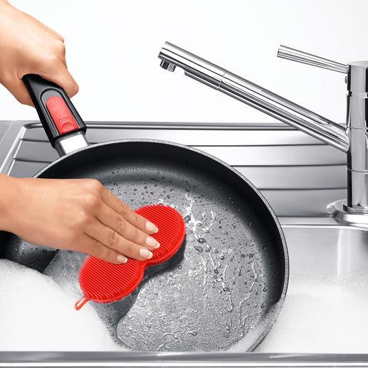 Silikonschwamm, 3er-Set Hygienische Sauberkeit - ohne Chance für Bakterien. Innovativer Silikonschwamm mit 5200 Reinigungsnoppen.