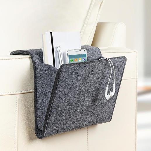 Sofa- und Betttasche Mit dieser Filztasche werden Ihre Mußestunden erst richtig komfortabel.