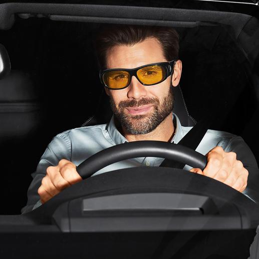 3-in-1-Überziehbrille Im Handumdrehen verwandelt sich Ihre Brille in eine Schutz-, Sonnen- oder Nachtsichtbrille.