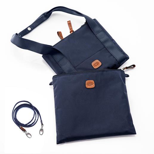 Zusammengefaltet lässt sich die Multi-Bag platzsparend in dem 29x 24cm großen Beutel verstauen.
