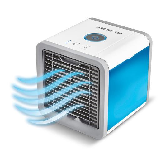 Einströmende (warme) Luft wird durch einen Zellstofffilter geleitet. Dabei verdunstet das Wasser, kühlt die Luft und reichert sie mit Feuchtigkeit an.