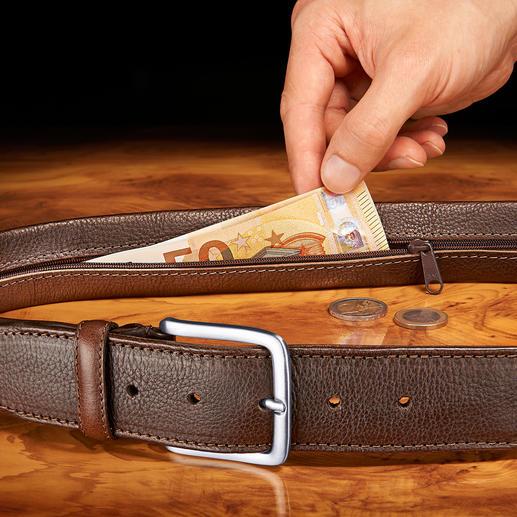 Chiarugi Sicherheitsgürtel Keine Chance für Langfinger. Mit Geheimfach tragen Sie Bargeld gut verborgen am Körper.