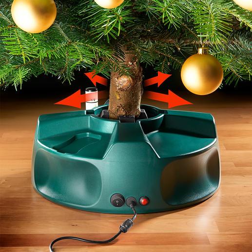 Elektrischer Christbaumständer - So einfach, schnell und perfekt haben Sie Ihren Tannenbaum noch nie aufgestellt. Ganz allein. Einfach per Knopfdruck.