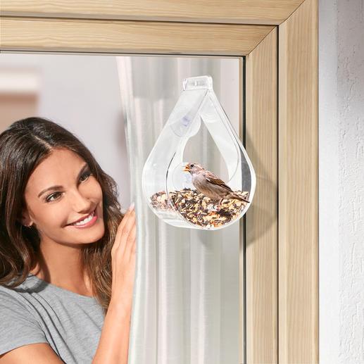 Fensterfutterstation für Gartenvögel Preisgekrönt: für viele Vögel die perfekte Futterstelle. Für Sie ein bezaubernder Anblick.