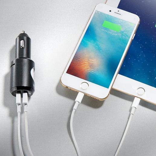 Zusätzlich integriert: 2USB-Ladebuchsen für Smartphone &Co.