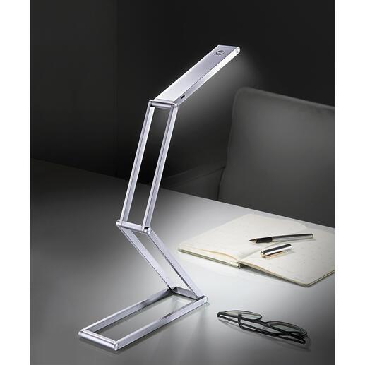 LED-Akku-Falt-Leuchte - Kompakt und kabellos: Die extrem vielseitige LED-Falt-Leuchte mit Akkubetrieb. Ideal auch für Unterwegs, auf Reisen, beim Camping, im Garten, ...