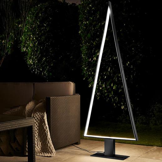 LED-Outdoor-Lichtbaum Schönstes, puristisches Design: perfekt als Outdoor-Tanne und edles Lichtobjekt.