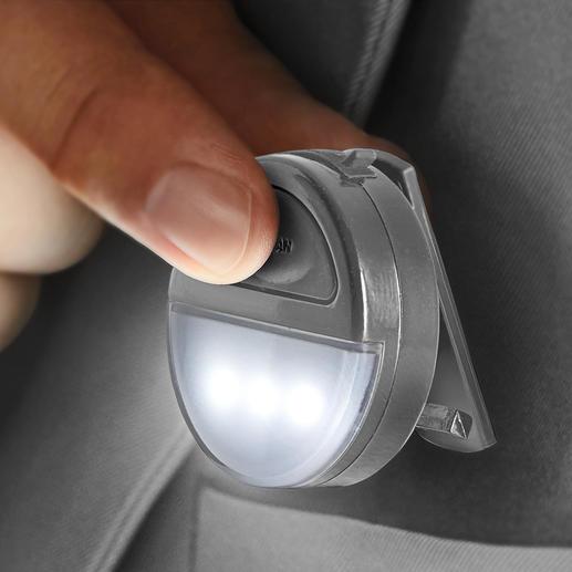 2-Lichtfarben-Ansteckleuchte Sicherheit leicht gemacht: beim Joggen, Radfahren, Gassi gehen, ... im Dunkeln.