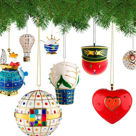 Alessi Dekokugeln Faberjori - Kunstvoll handdekorierte Porzellan-Kugeln: Alessis Weihnachtsversion legendären Designs. Immer ein Unikat.