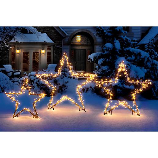 LED Lichterstern Dekorative Sternsilhouetten – von unzähligen Lichtpunkten umschwärmt.