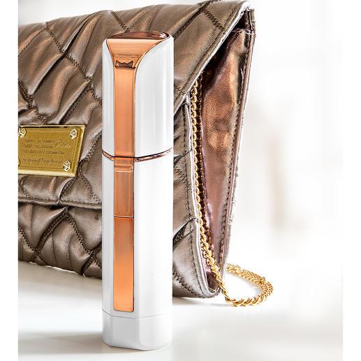 Im diskreten Lipstick-Design ideal für die Handtasche.