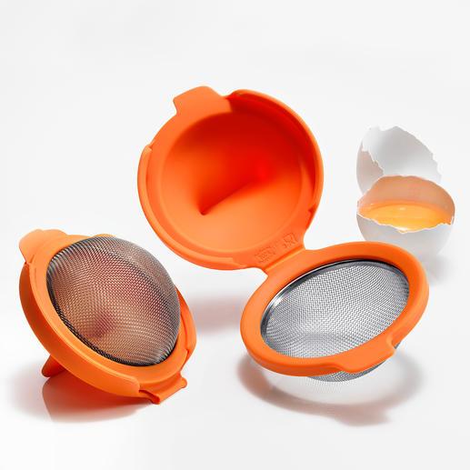 Eier-Pochierer, 2er-Set Einfach und schnell wie nie: Pochierte Eier – perfekt in Form und Konsistenz.