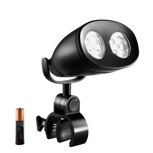 LED-Grillleuchte - Die geniale LED-Leuchte für den Grilldeckel: frei dreh- und schwenkbar und nie im Weg.