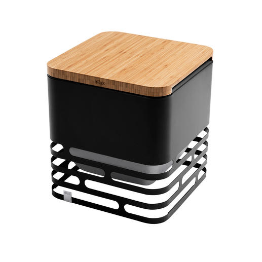 Mit der separat erhältlichen Platte aus Bambusholz verwandeln Sie den Cube in einen praktischen Hocker oder Beistelltisch.