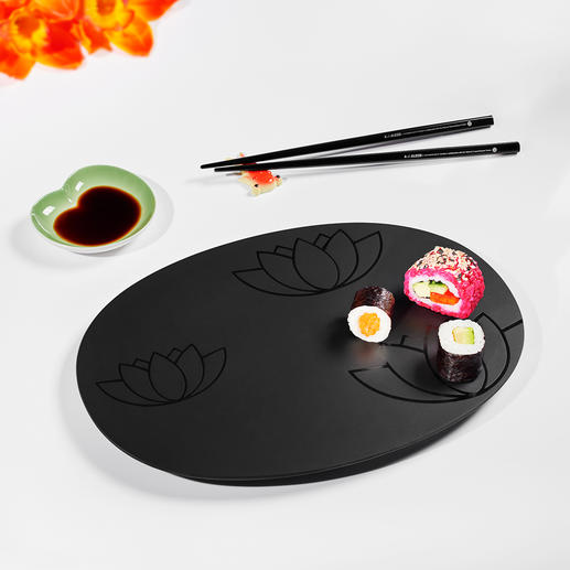 Sushi-Set, 4-teilig - Entwickelt mit dem National Palace Museum in Taiwan. Komplett mit Tablett, Saucenschale, Stäbchen und Ablage.