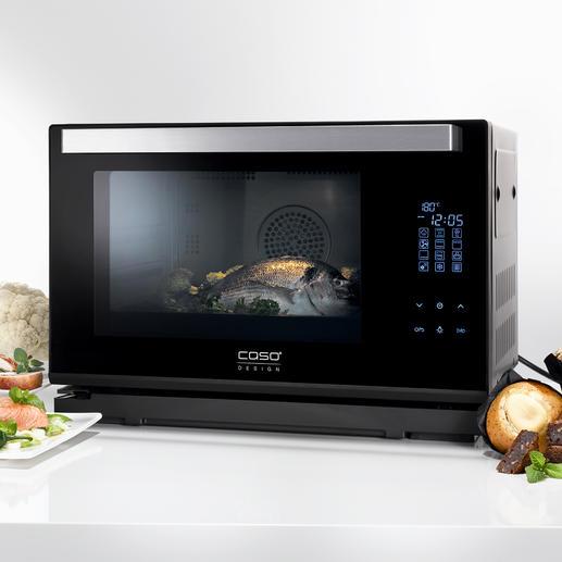 Caso Dampfbackofen Steam Chef Heißluft-Backofen, Dampfgarer und Grill in einem kompakten Gerät. Von Caso.