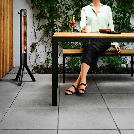 Design-Terrassenwärmer HEATUP - Erbringt in 5 Sekunden volle Leistung. Wärmt per Infrarot auf 2 m Entfernung ca. 4,2 qm. Von evasolo/Dänemark.