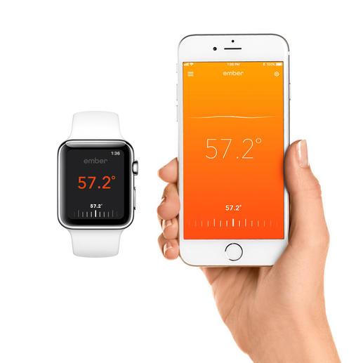 Per Smartphone- oder -watch via kostenloser App kinderleicht zu steuern.