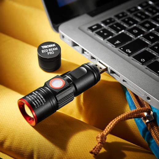 Einfach über den integrierten USB-Stecker aufladbar.