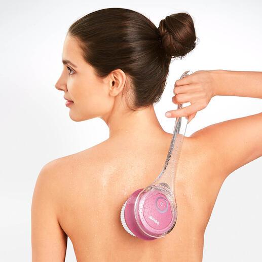 Beurer Elektro-Körperbürste Mit Reinigungs- und Peeling-Aufsatz, 2 Rotations-Stufen und aufsteckbarem Handgriff.