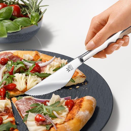 Pizzamesser, 6er-Set Teilt Boden und Belag leicht und sauber. Und passt zu jedem Besteck. Qualität made in Germany.