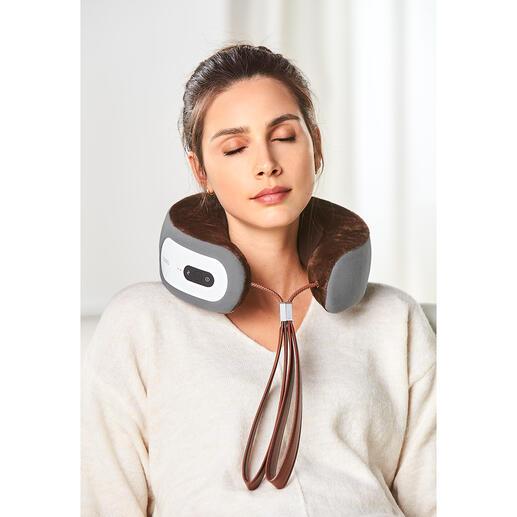 iNeck3 Nackenmassage-Kissen Nackenmassage exakt nach Wunsch. Überall. Ohne Kabel und Steckdose.