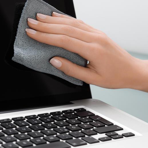 Antibakterielle Touchscreen-Tücher, 5er-Set - Befreit Ihre Touchscreens mit einem Wisch von Schmutz, Schmierfilm und Keimen.