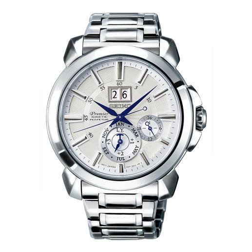 Seiko Premier Kinetic Perpetual Herrenuhr SNP159P1 Läuft bis zu 800-mal länger (!) als herkömmliche Automatik-Uhren.