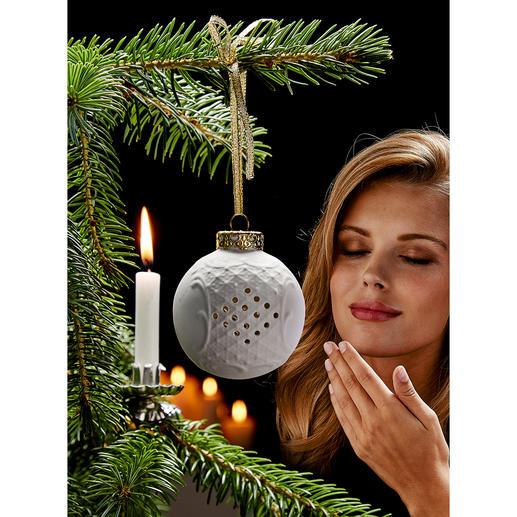 Duftkugel Porzellan Weihnachtlicher Duft und stimmungsvolle Atmosphäre – aus feinem, weissem Porzellan.
