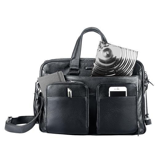 Nur 3 cm flach – perfekt für die Business- oder Handtasche.