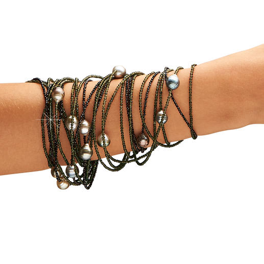 Ideal auch als üppiges Armband.