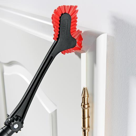 Mühelos jede Art von Rahmen und Kanten entstauben. Ideal z.B. für Fußleisten, Tür- und Fensterrahmen.