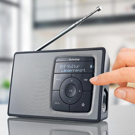 TechniSat DIGITRADIO 2 - Mit Akku (statt Batterien) und Bluetooth-Streaming. Qualität made in Germany.
