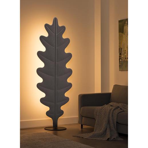 Akustik-Stehleuchte Eden Design-Skulptur. Sicht- und Schallschutz. Und moderne LED-Leuchte zugleich. Eleganz und Lifestyle made in Italy.