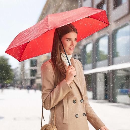 Ultraleichter Taschenschirm 99 g Der wohl leichteste Taschenschirm der Welt.  Aus stabilem Carbon und Aluminium. Perfekt für Sakko-, Jacken- und Handtasche.