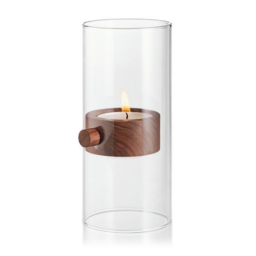 Lift Teelichthalter XL Überwindet scheinbar die Schwerkraft: das Windlicht mit schwebendem Kerzenschein.