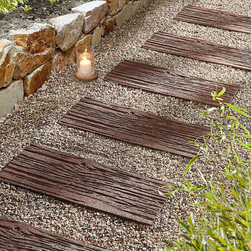 Recycling-Trittplatte, 4er-Set Leichter als echte Steine. Langlebiger als Holz: Die Trittplatten aus recycelten Autoreifen.