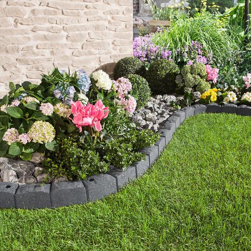 Rasenkante Stone, 4er-Set Leicht. Flexibel. Nachhaltig: Die Rasenkante aus recycelten Reifen.