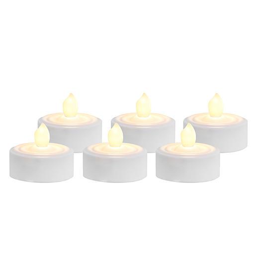 LED-Teelichter mit Timer, 6er-Set