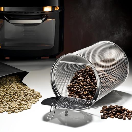 Der integrierte Röstautomat röstet bis zu 250g Rohkaffee genau nach Ihrem Geschmack.
