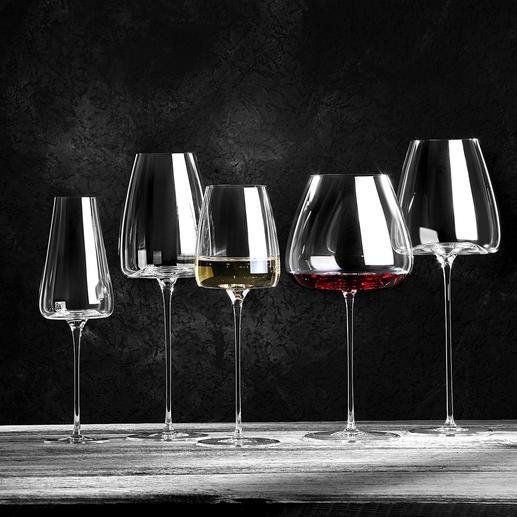 Weingläser Vision, 2er-Set Jung oder gereift, kraftvoll oder leicht, weiß, rot oder perlend, ...: Mit diesen 5 Design-Gläsern haben Sie für jeden Weincharakter das optimale Glas zur Hand.
