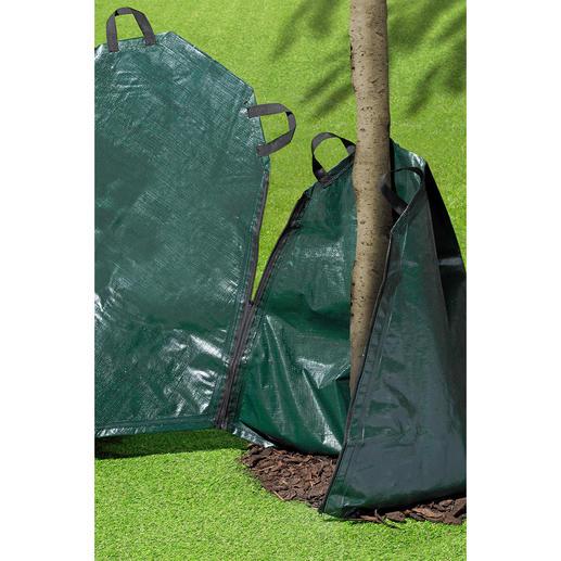 Für stärkere Stämme lassen sich mehrere Säcke per Reißverschluss verbinden.