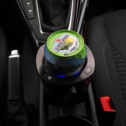 Kfz-Dosen-/Flaschenkühler Jetzt genießen Sie auch unterwegs perfekt gekühlte Getränke.