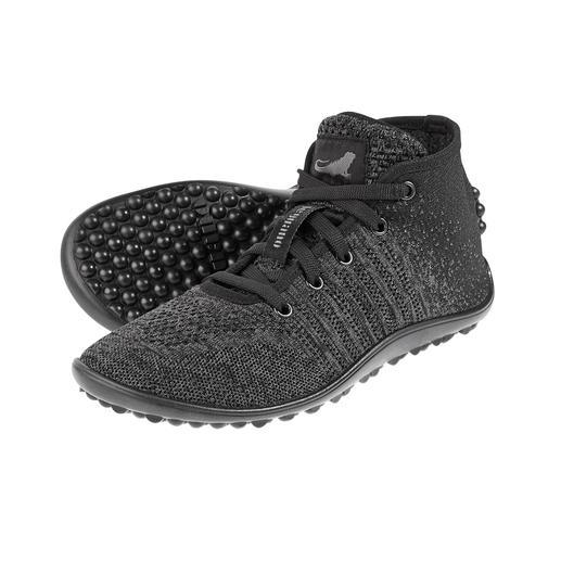 Barfuß-leguano® Knit-Sneaker Original leguano® Barfuß-Genuss – jetzt im trendig hohen Strick-Sneaker.