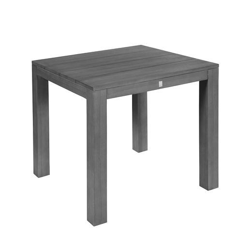 Tisch auch in quadratisch erhältlich: misst 100x 100x 75cm.